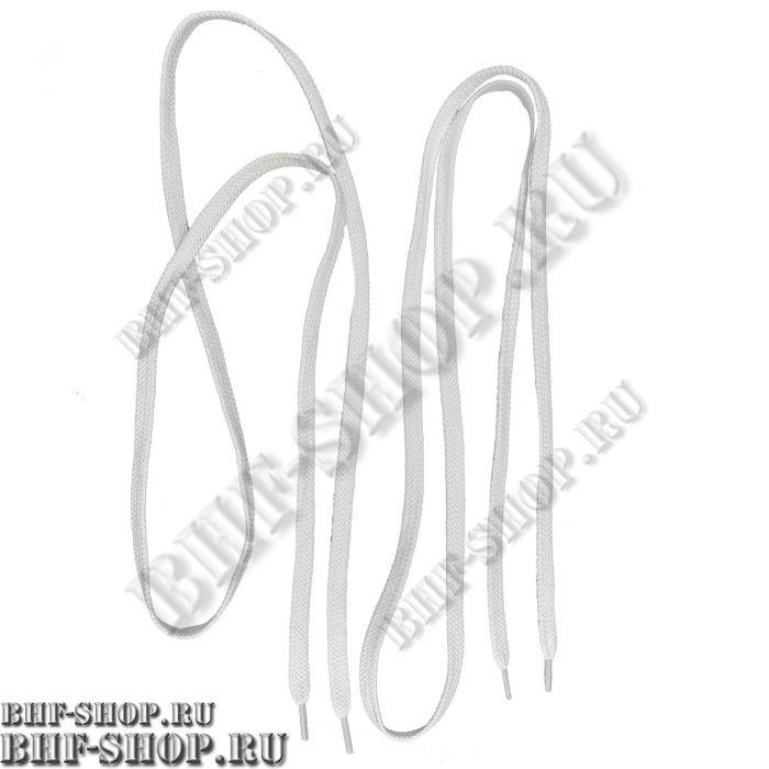 Шнурки плоские для всех видов обуви 120-130 см ( 2шт ) Белые