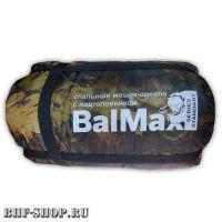 Спальный мешок-одеяло с подголовником BalMax до -25° лесной