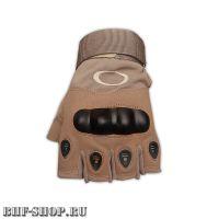 Перчатки тактические OK с открытыми пальцами песок