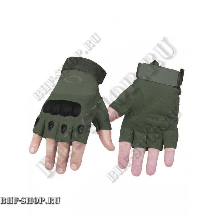 Перчатки тактические OK с открытыми пальцами хаки