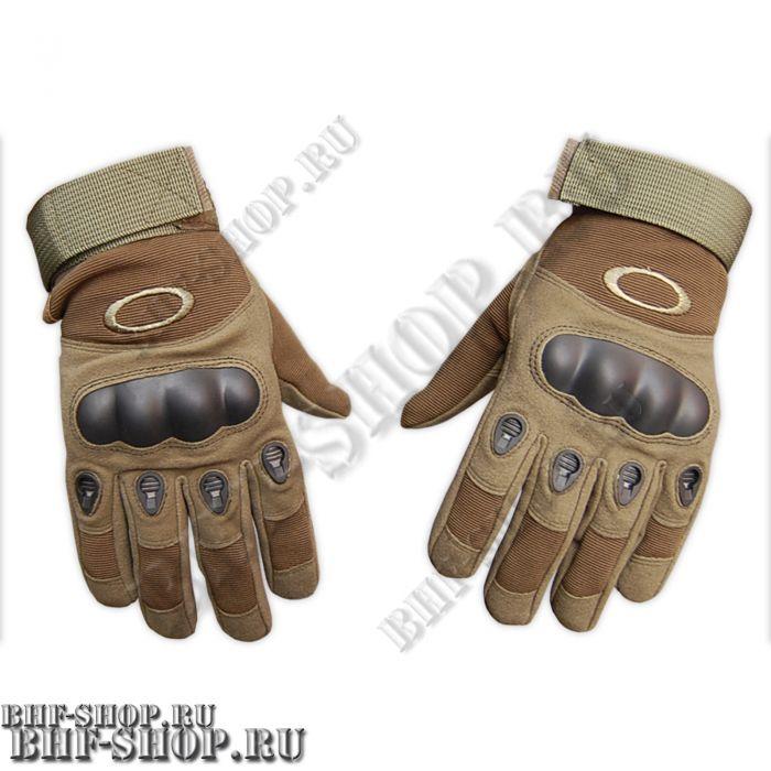 Перчатки тактические OK с закрытыми пальцами песок