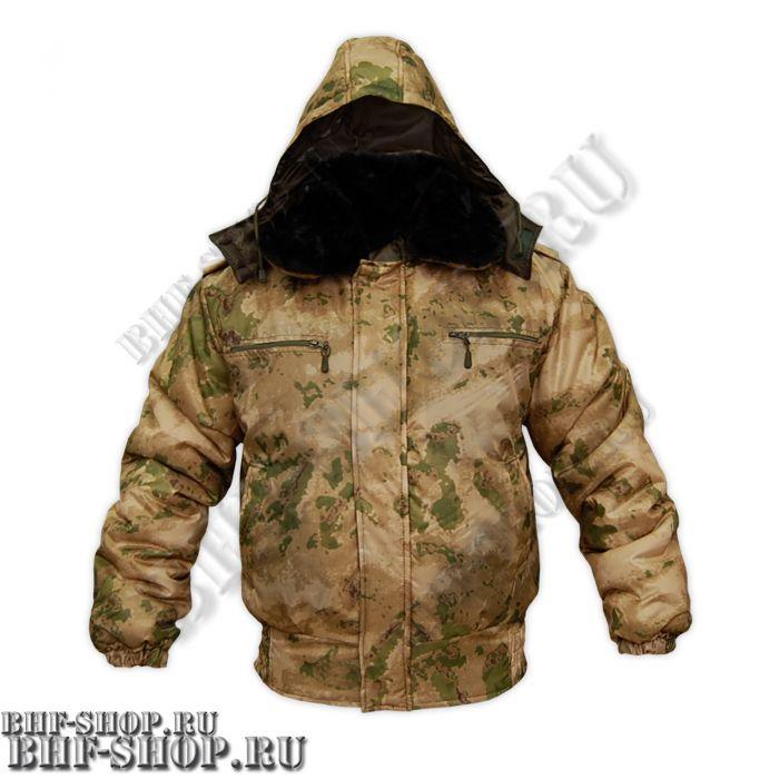 Куртка зимняя для ОХРАНЫ Зеленый мох БШФ+ - 1серия