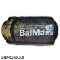 Спальный мешок-одеяло с подголовником BalMax -20° лесной