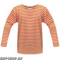 Тельняшка летняя детская оранжевая