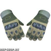 Перчатки тактические OK с закрытыми пальцами олива