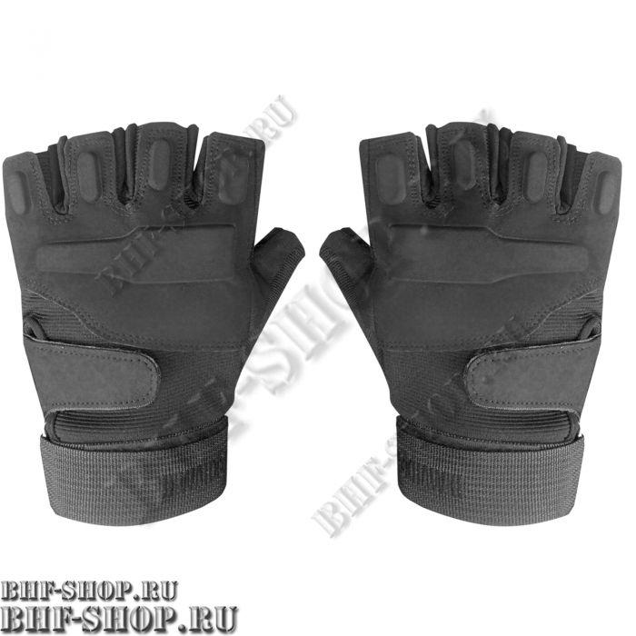 Перчатки тактические BLACKHAWK с открытыми пальцами черные