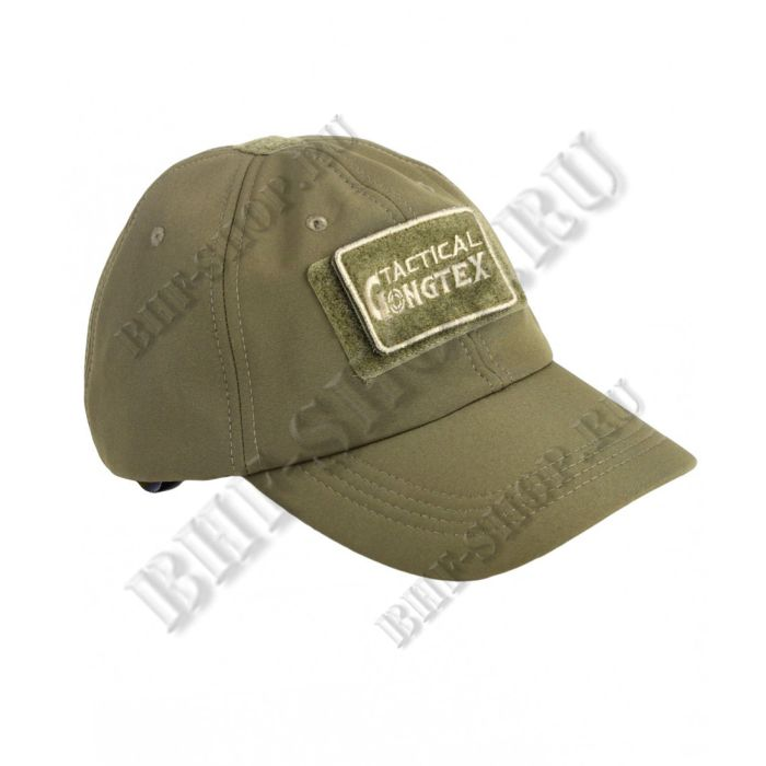 Кепка-бейсболка демисезонная Gongtex Softshell Cap, Waterproof, олива