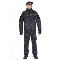 Костюм тактический GONGTEX GUNFIGHTER Softshell Черный мультикам