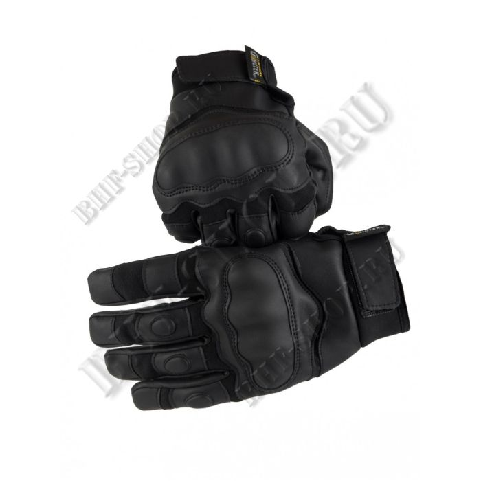 Перчатки тактические GONGTEX Tactical Gloves эко-кожа Черные