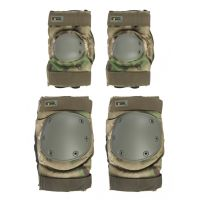 Наколенники и налокотники Gongtex Tactical Protection GK07K, Зеленый мох