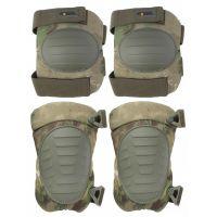 Наколенники и налокотники Gongtex Tactical Protection GK08K, Зеленый мох