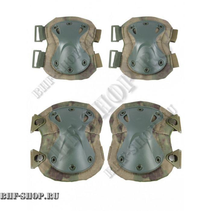 Наколенники и налокотники Tactica 7.62  X-Form Зеленый мох