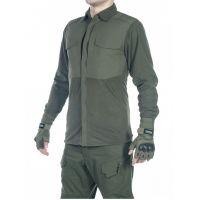 Рубашка флисовая мужская утепленная GONGTEX Superfine Fleece Shirt Олива