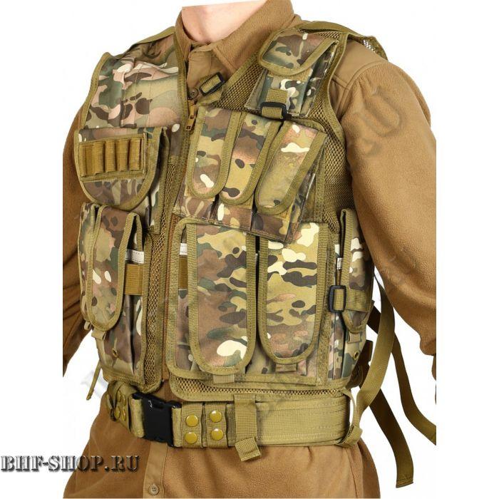Жилет разгрузочный Unloading Combat Vest T-045 Мультикам