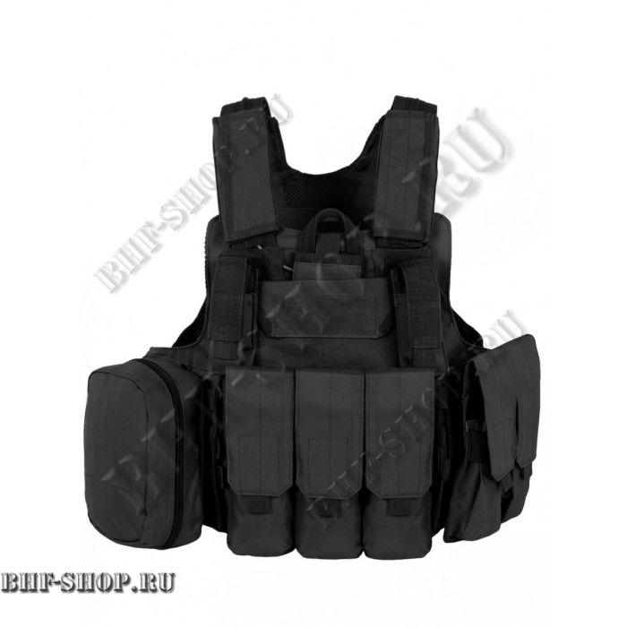 Бронежилет разгрузочный Tactical 047 Черный