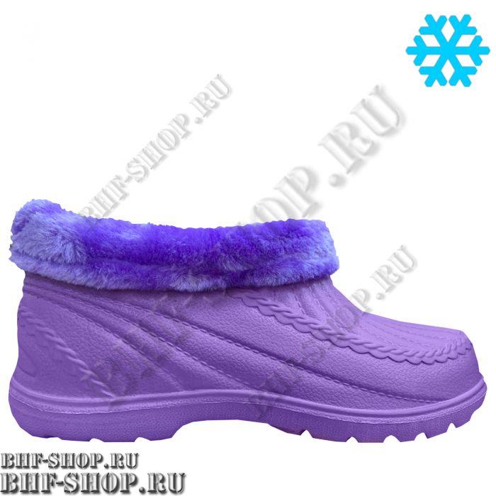Галоши ЭВА утепленные женские Фиолетовые с Мехом