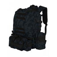 Рюкзак Тактический FORTRESS 40 л, Черный мультикам