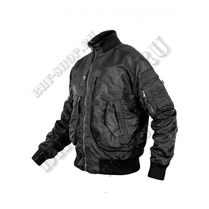 Куртка Пилот (бомбер) демисезонная 7,26 Armyfans G056A Черный