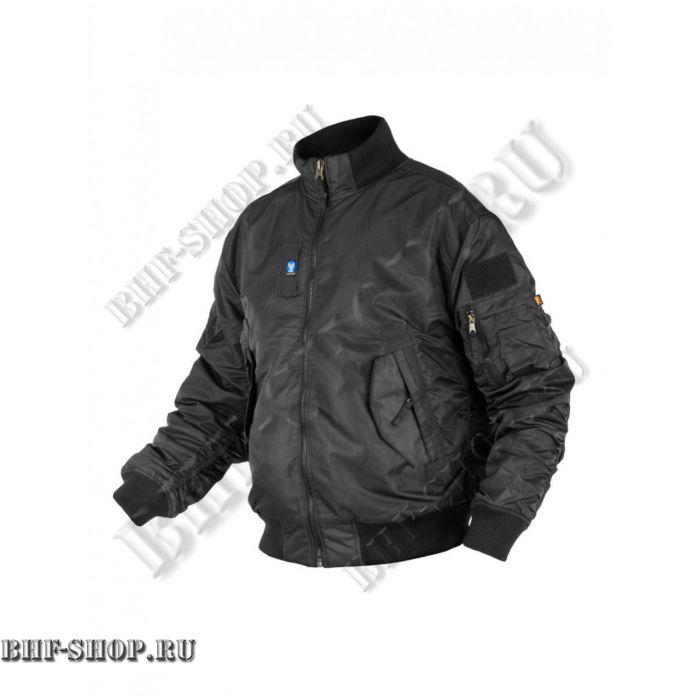 Куртка Пилот (бомбер) 7,26 Armyfans с мехом GD056A Черный