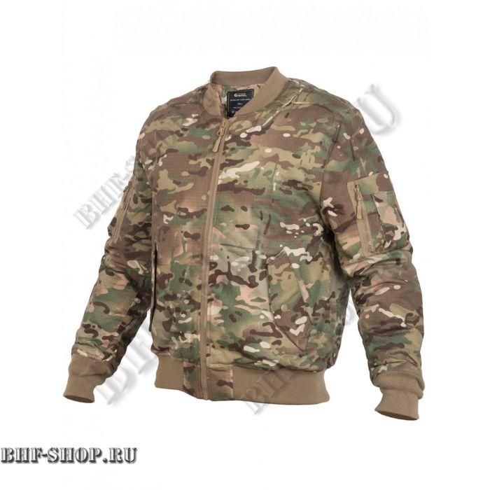 Куртка Пилот мужская утепленная (бомбер) GONGTEX Tactical Ripstop Jacket Мультикам