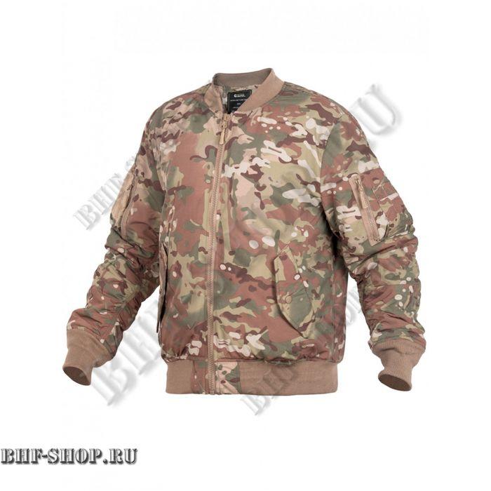 Куртка Пилот мужская утепленная (бомбер) GONGTEX Tactical Soft Flight Jacket Мультикам