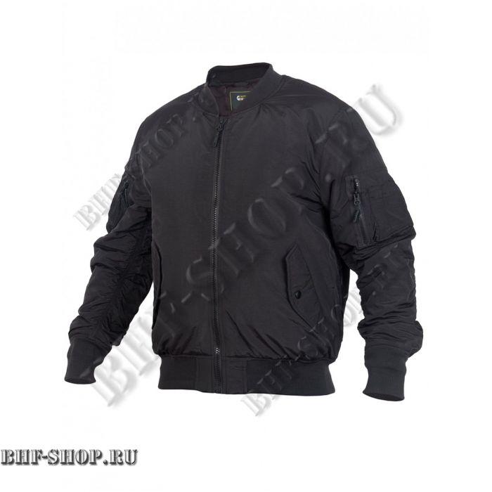Куртка Пилот мужская утепленная (бомбер) GONGTEX Tactical Soft Flight Jacket Черный