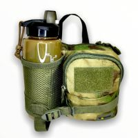 Сумка тактическая с карманом Gongtex, 4,5 литра, зеленый мох, 00377
